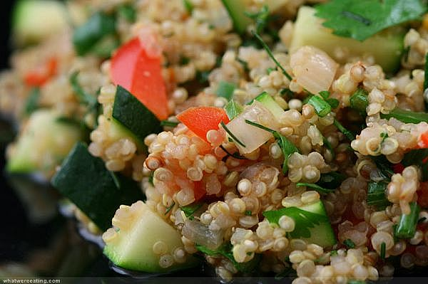 Quinoa salad. Image credit: beautifulfoods.blogspot.com