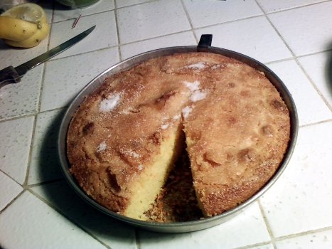Orange Cornmeal Olive-Oil Cake